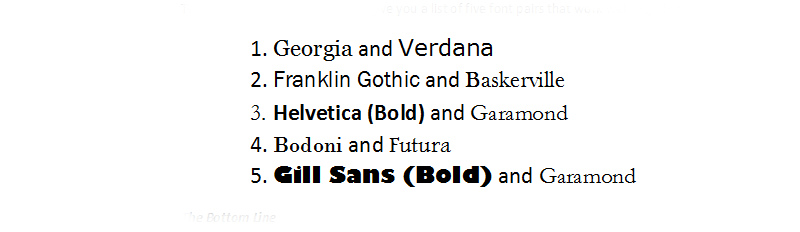 Improve your design with paired fonts